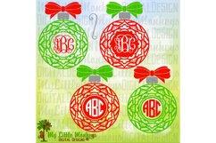 Mandala Christmas Ornament with Bow Product Image 1