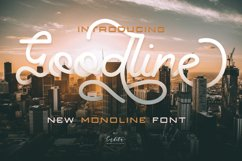 Goodline - Monoline Font + Extras Product Image 1