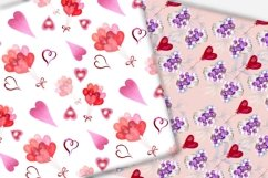 Valentine's day digital paper.Seamless pattern. Product Image 3