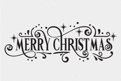 Christmas Svg - Merry Christmas Farmhouse Vintage Sign Product Image 3