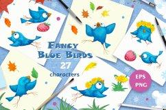 Fancy Blue Birds. Big set. Characters. Product Image 2