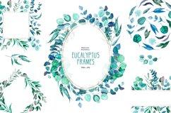 Watercolor eucalyptus frames Product Image 1