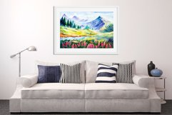 Spring Landscapes. Watercolor. Product Image 3