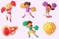 Cheerleader Kids Clip Art Collection Product Image 2