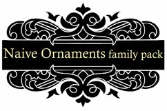 Naive Ornaments Family Pack (seven fonts) Product Image 5