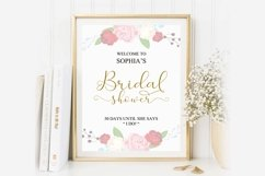 Gold welcome bridal shower sign, Welcome printable, DAD_24 Product Image 3