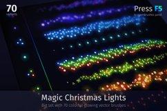 Magic Christmas Lights Vector Brushes Big Set Product Image 1