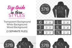 Bella Canvas 3719 Tshirt Size Chart Mockup Product Image 2