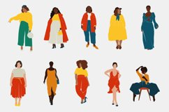 Curvy Woman, abstract clipart, black girl, Plus size Female, Product Image 2