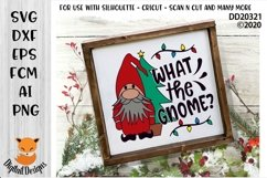 What The Gnome Christmas SVG Product Image 1