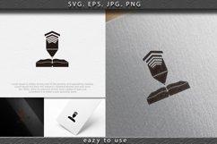 book and podium logo Designs Inspiration Isolated on White B Product Image 1