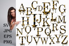 Valentines SVG, Dripping Glitte leopard Alphabet SVG Product Image 1