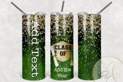 Graduation Skinny Tumbler Sublimation /Green / Class of Product Image 2