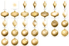 Gold Christmas Ornament Clipart Product Image 4
