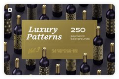 Luxury patterns - 250 geometric backgrounds collection Product Image 1