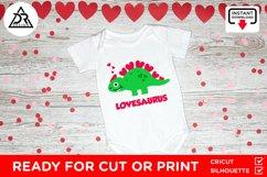 Valentines Baby Dinosaur SVG Product Image 2