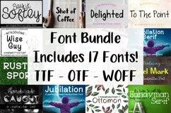 Font Bundle - Set of 17 Fonts - Lettering Typography Product Image 1