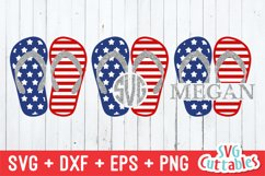 Fourth of July SVG | Fourth of July Flip Flops Product Image 1