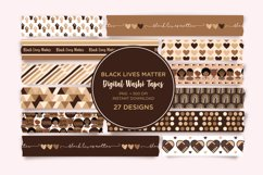 Black Lives Matter Digital Washi Tape, BLM Digital Stickers Product Image 1