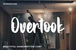 Web Font Overtook - Handwritten Font Product Image 1