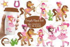 Cowgirl clipart, graphics, illustrations AMB-159 Product Image 1