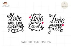 Love never ends svg. Bible quotes svg. Christian svg. Product Image 1