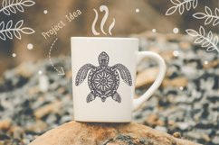 Turtle Mandala Svg Cut File, Turtle Svg, SeaTattoo Design Product Image 5