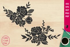 Flowers Silhouette Svg, Florals Silhouette Svg, Silhouette Product Image 1