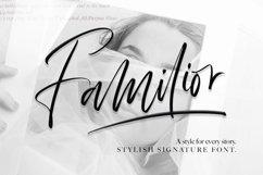 Familior - Signature Font Product Image 1
