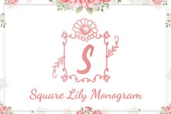 Square Lily Monogram Product Image 1