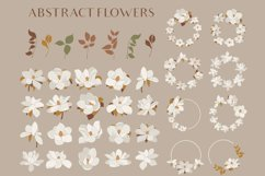 Magnolia flowers clipart. Abstract art Product Image 1