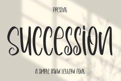 Succession - Simple Handletterd Font Product Image 1