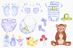 Watercolor boy baby shower clipart Product Image 3