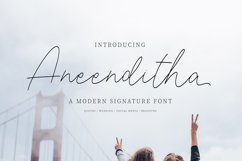 Aneenditha | A Modern Signature Font Product Image 1