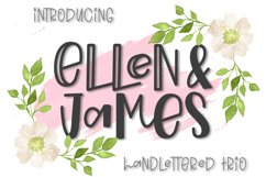 Ellen & James - A Handlettered Trio of Fonts Product Image 1