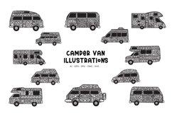 Camper Van Illustrations Product Image 1