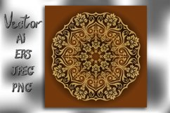 Mandala. Vintage decorative element. Vector. Product Image 1