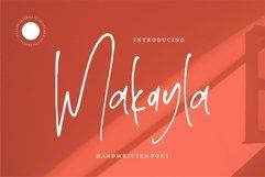 Web Font Makayla - Handwritten Font Product Image 1