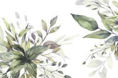 Watercolor Greenery Bouquets Clipart Product Image 7