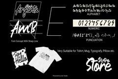 Arjenta Black - Modern Calligraphy Font Product Image 2