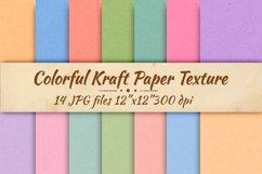 Colorfrul kraft paper Digital paper Cardboard background Product Image 1