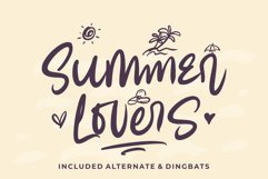 Summer Lovers with Alternate and Dingbat Product Image 1
