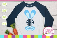 Easter, Bunny, Bunny Monogram, SVG, DXF, PNG Product Image 1