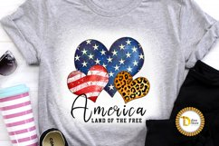 4th of July Sublimation Quote -Leopard print Heart Product Image 2