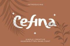Web Font Cefina - Handwritten Sans Font Product Image 1