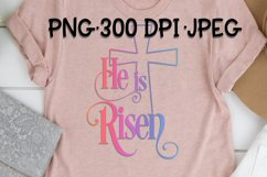 He Has Risen - PNG for Sublimation Product Image 1