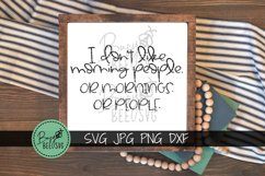 I don't like morning people Cut File SVG PNG DXF Product Image 3