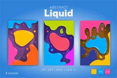 Colorful posters in liquid style. Product Image 5