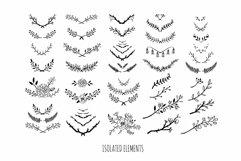 Floral botanical wedding illustrations set Product Image 3