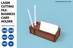Business Card Holder - SVG - Laser cutting File Product Image 3